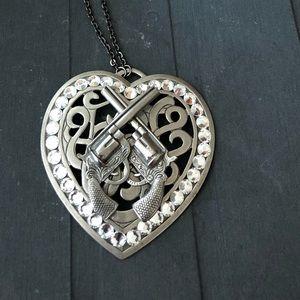 Gasoline Glamour medallion necklace.